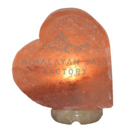 Crafted Pink Sideways Heart Salt Lamp | Himalayan Salt Factory