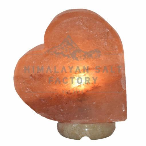 Crafted Pink Sideways Heart Salt Lamp   Himalayan Salt Factory