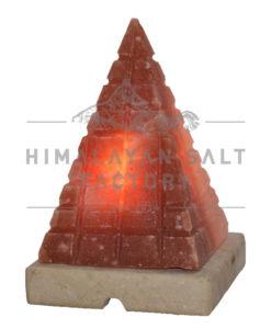 Crafted Himalayan Pyramid Brick Design Salt Lamp | Himalayan Salt Factory