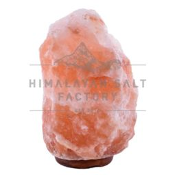 15-20kg Natural Shaped Himalayan Salt Lamp Timber Base | Himalayan Salt Factory