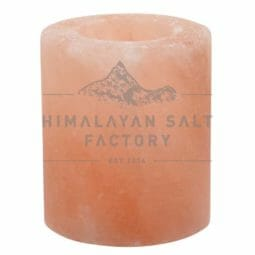 Himalayan Salt Cylinder Shaped Tealight Candle Holder | Himalayan Salt Factory