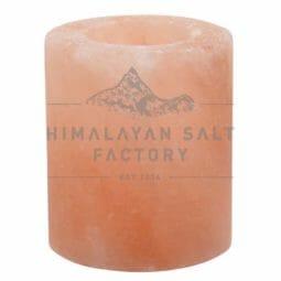 Himalayan Salt Cylinder Shaped Tealight Candle Holder   Himalayan Salt Factory