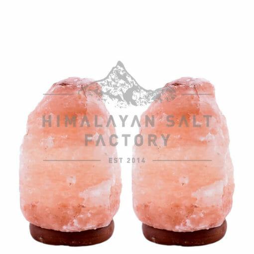 2 X 2-3kg Himalayan Salt Lamp Pack (Timber Base)   Himalayan Salt Factory