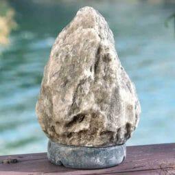 2-3kg Grey Himalayan Salt Lamp – Marble Base | Himalayan Salt Factory