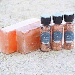 2 Himalayan Salt Cooking Block (Small) + 3 Plastic Grinders | Himalayan Salt Factory