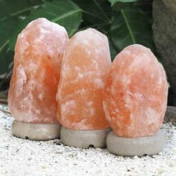 3x 3-5kg Himalayan Salt Lamp Pack (Marble Base) | Himalayan Salt Factory