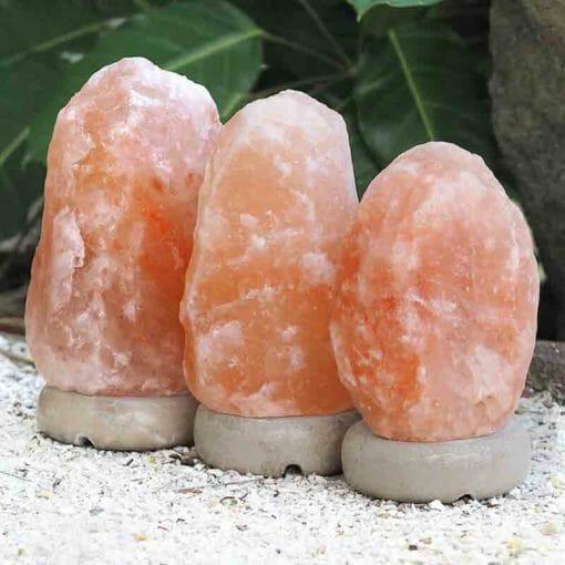 3x 3-5kg Himalayan Salt Lamp Pack (Marble Base) | Himalayan Salt Factory