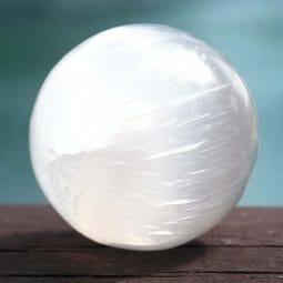 Selenite Sphere 8cm | Himalayan Salt Factory