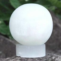 Selenite Sphere Lamp | Himalayan Salt Factory