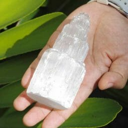 Selenite Tower 10cm (No Hole) | Himalayan Salt Factory