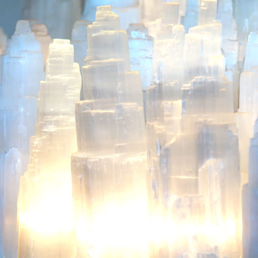 Selenite Tower Lamp 30cm (Bulk 10 Pack) | Himalayan Salt Factory