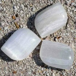 Selenite Palm Stones x 3 | Himalayan Salt Factory