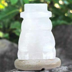 Snowman Salt Lamp   Himalayan Salt Factory