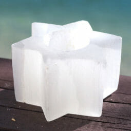 Star Selenite Tealight Candle Holder | Himalayan Salt Factory