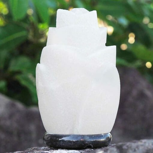 White Rose Salt Lamp   Himalayan Salt Factory