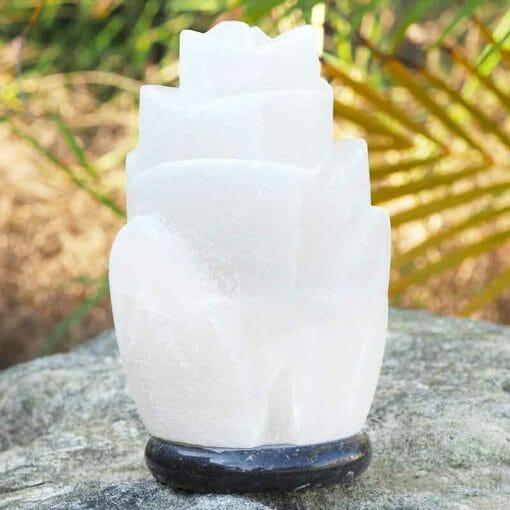 White Rose Salt Lamp | Himalayan Salt Factory