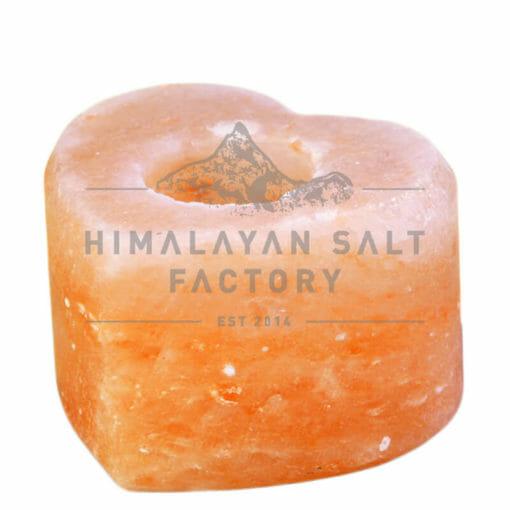 Heart Shaped Tealight Candle Holder   Himalayan Salt Factory