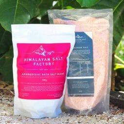 Aphrodisiac Bath Salt 700g with 1kg Himalayan Bath Salt Himalayan Salt Factory