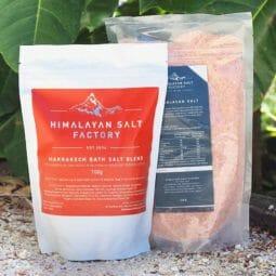 Marrakech Bath Salt 700g with 1kg Himalayan Bath Salt Himalayan Salt Factory