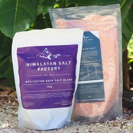 Sports Bath Salt 700g with 1kg Himalayan Bath Salt Himalayan Salt Factory