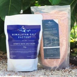 Sports Bath Salt 700g with 1kg Himalayan Bath Salt Himalayan Salt Factory