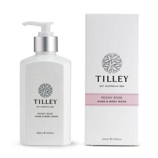Tilley Body Wash Peony Rose 400ml | Himalayan Salt Factory