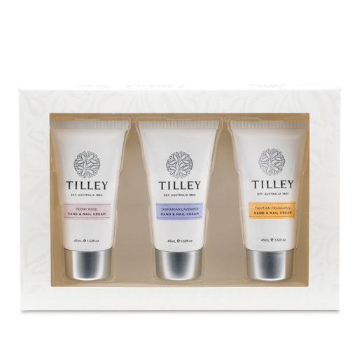Tilley Floral Hand and Nail Cream Trio 3x45ml   Himalayan DSalt Factory