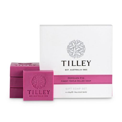 Tilley Gift Soap Set Persian Fig-4x50g   Himalayan Salt Factory