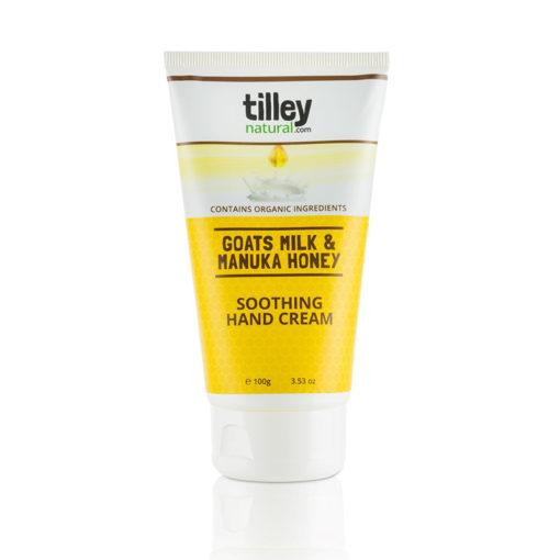 Tilley Natural Goats Milk and Manuka Honey Soothing Hand Cream 100g | Himalayan Salt Factory