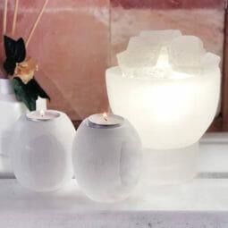 Selenite Fire Bowl Lamp Package | Himalayan Salt Factory