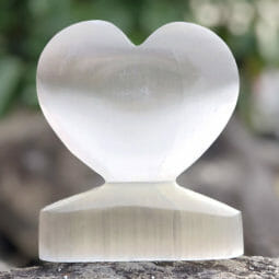 Selenite Large Heart Shape | Himalayan Salt Factory