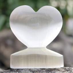 Selenite Large Heart Shape   Himalayan Salt Factory
