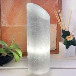 Selenite Large Lipstick Lamp | Himalayan Salt Factory