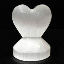 Selenite Small Heart Shape   Himalayan Salt Factory
