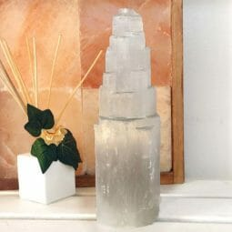 Selenite Tower 30cm (No Hole) | Himalayan Salt Factory