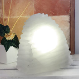 Selenite Wave Lamp 20cm | Himalayan Salt Factory