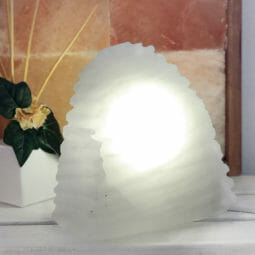 Selenite Wave Lamp 20cm | Himalayan Salt Factory