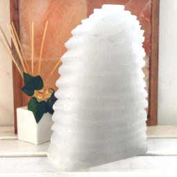 Selenite Wave Lamp 30cm | Himalayan Salt Factory