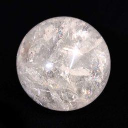 0.5kg Clear Quartz Crystal Sphere   Himalayan Salt Factory