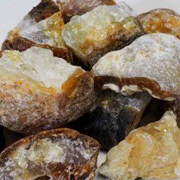 5kg Golden Crystal Rough Parcel   Himalayan Salt Factory