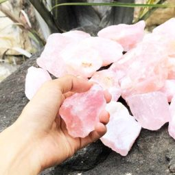 5kg Healing Rose Quartz Rough Parcel | Himalayan Salt Factory
