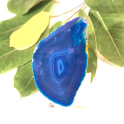 Agate Slice Night Light – Blue | Himalayan Salt Factory