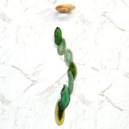 Agate Wind Chime- Green - Small   Himalayan Salt Factory