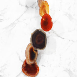 Agate Wind Chime- Red - Large | Himalayan Salt Factory