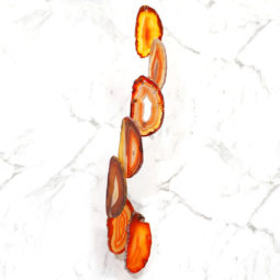 Agate Wind Chime- Red - Medium | Himalayan Salt Factory