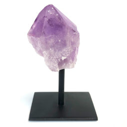 Amethyst Crystal Point On Metal Stand   Himalayan Salt Factory