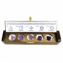 Amethyst Sacred Geometry Set | Himalayan Salt Factory
