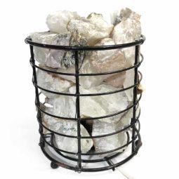 Basket Light with Crystal Gemstones | Himalayan Salt Factory