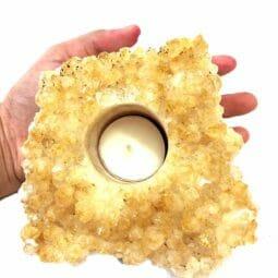 Citrine Tealight Candle Holder | Himalayan Salt Factory