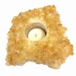 Citrine Tealight Candle Holder   Himalayan Salt Factory